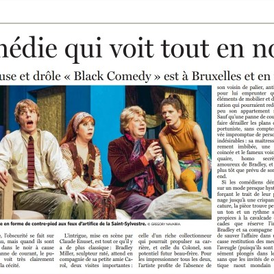 Le Soir - Black Comedy - 2013-12-10